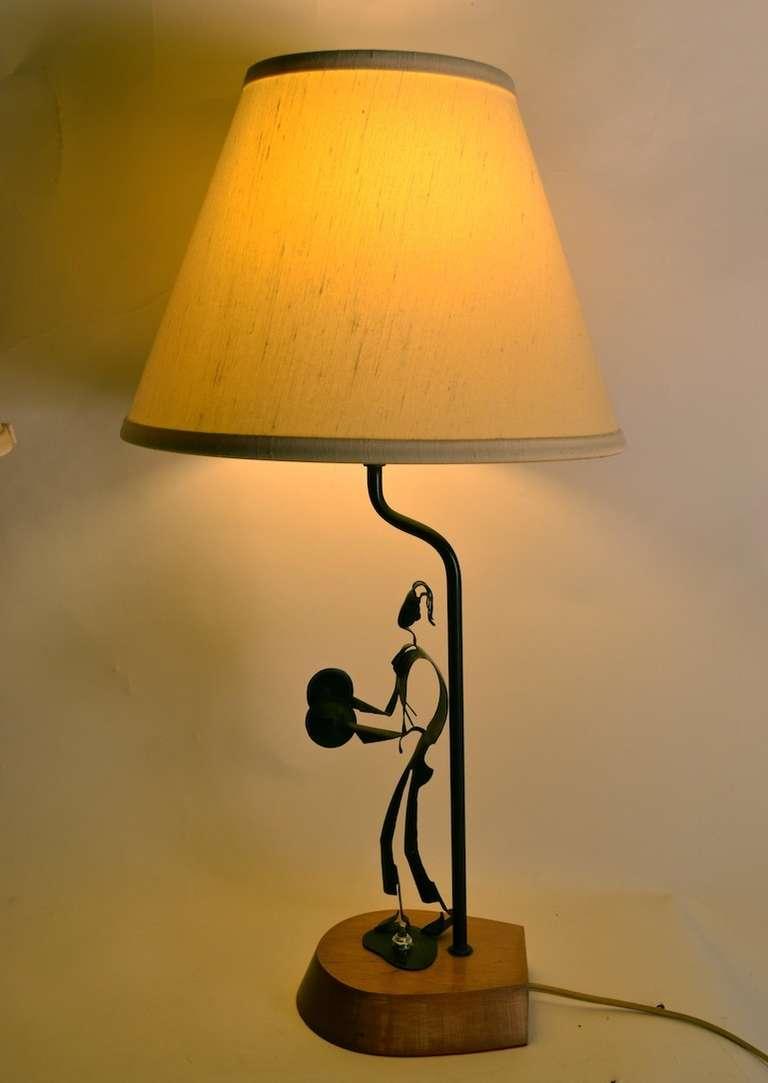 Pair of handmade metal musician table lamps at 1stdibs - Handmade table lamp ...
