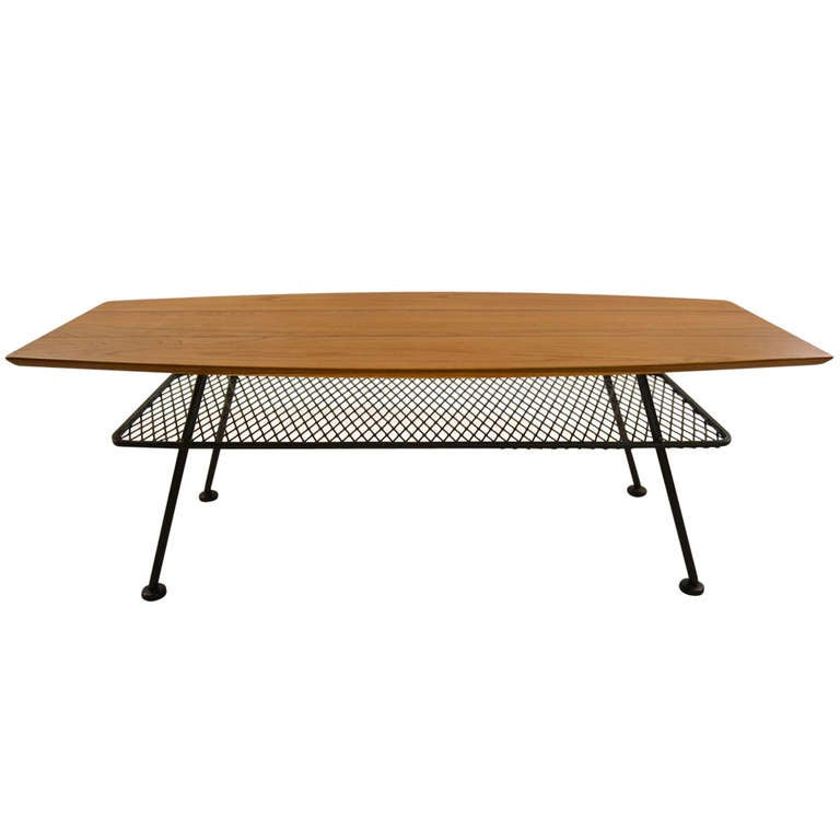 French Wood Slab Coffee Table At 1stdibs: Woodard Plank Slab Coffee Table At 1stdibs