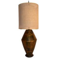 Damon Giffard for Hansen Lighting Company Copper Table Lamp