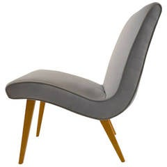 """Russel Wright Low Armless Lounge Chair, Conant Ball, """"Modern Mates"""""""