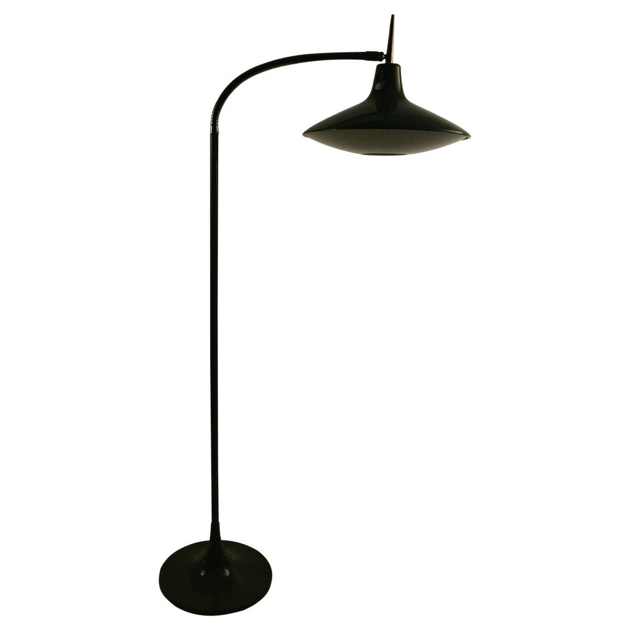 Laurel Gooseneck Floor Lamp Model B 683 In The Style Of Ponti For
