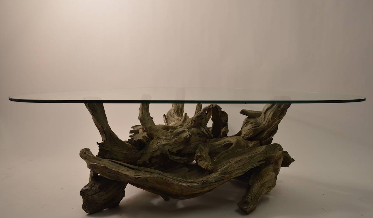 Driftwood coffee table for sale at 1stdibs for Driftwood coffee table