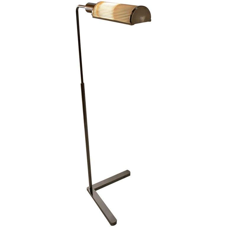 Bright Chrome Casella Adjustable Floor Lamp
