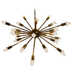 24-Light Brass Sputnik Chandelier