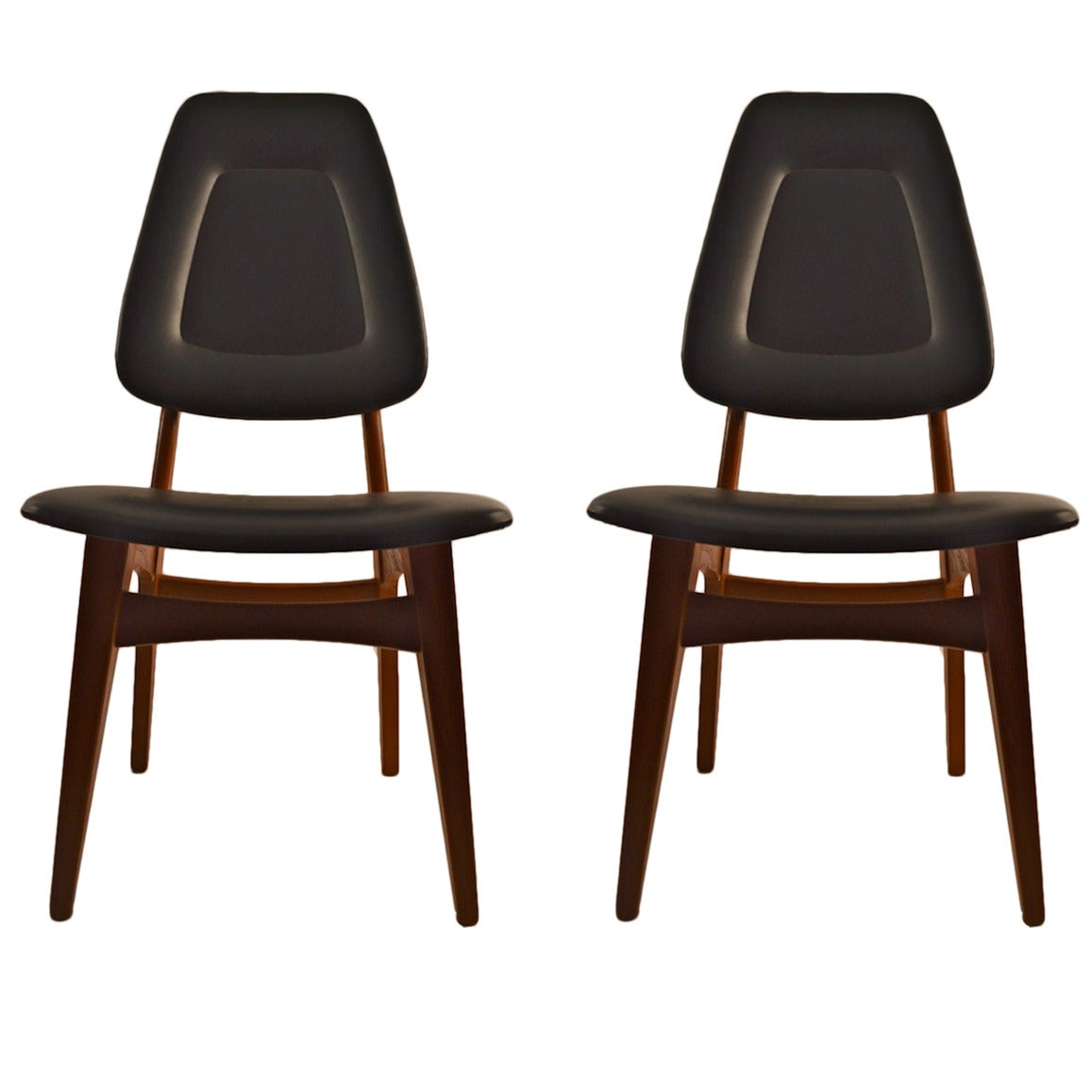 Pair of norwegian side chairs in teak for sale at 1stdibs for Side chairs for sale