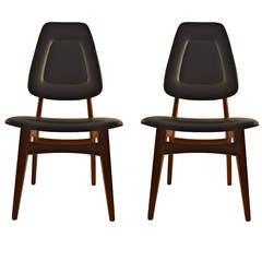 Pair of Norwegian Side Chairs in Teak