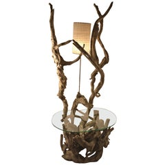 Large Driftwood Lamp Table or Floor Lamp