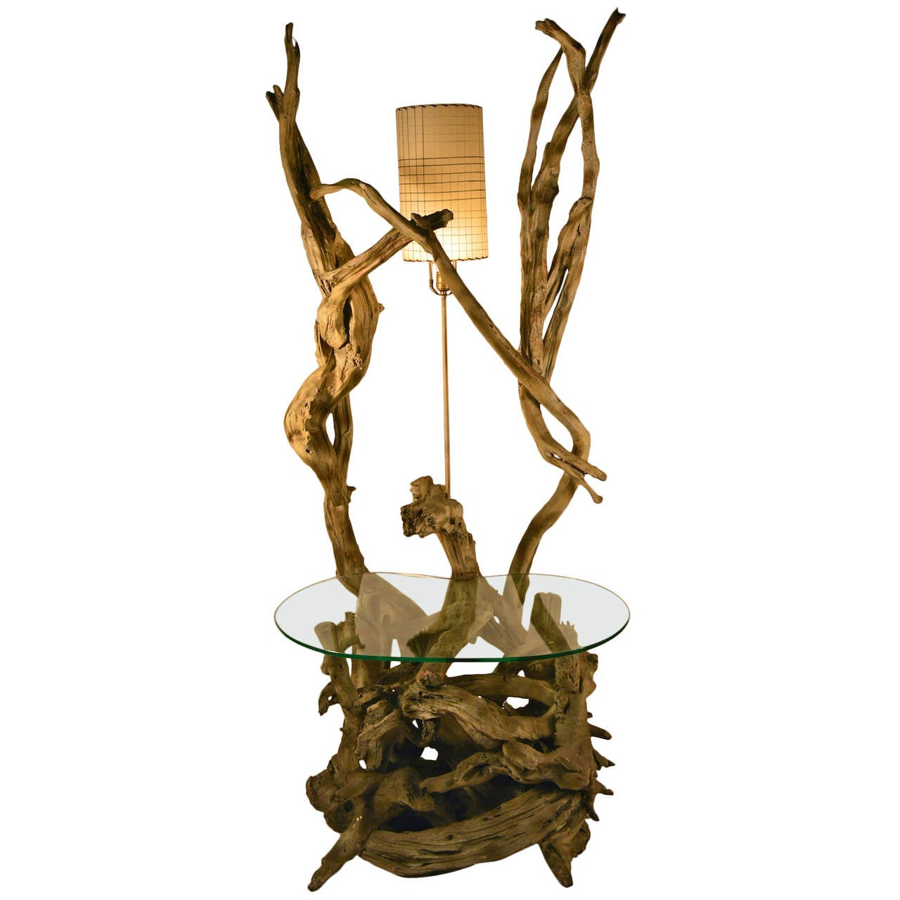 designer delhi driftwood lamp floor light unique modern halogen white