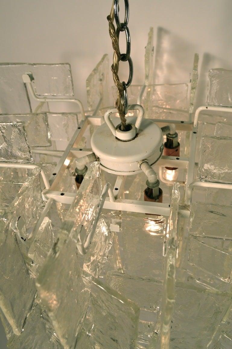 Mazzega Interlocking Murano Glass Chandelier For Sale 1