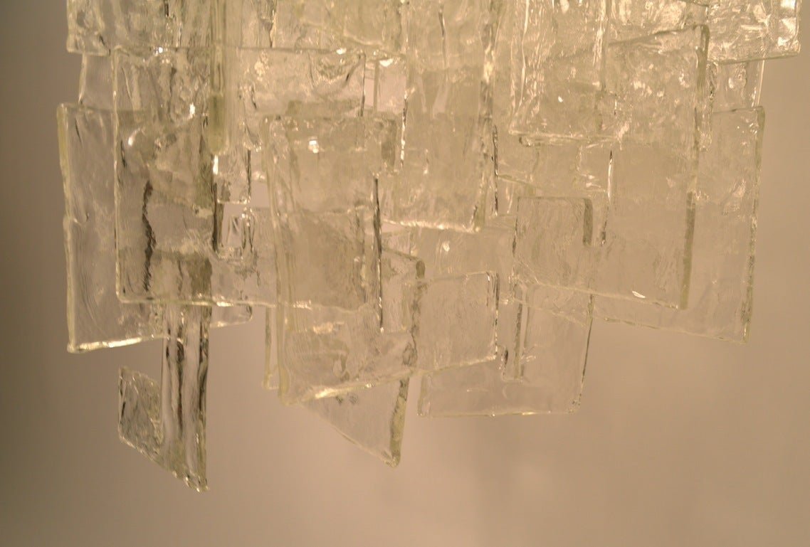 Mazzega Interlocking Murano Glass Chandelier For Sale 3