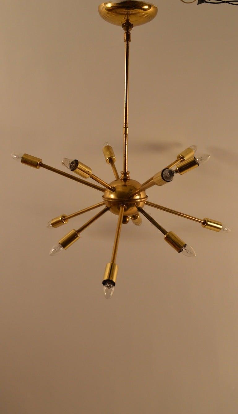 12 light sputnik chandelier for sale at 1stdibs for Sputnik chandelier