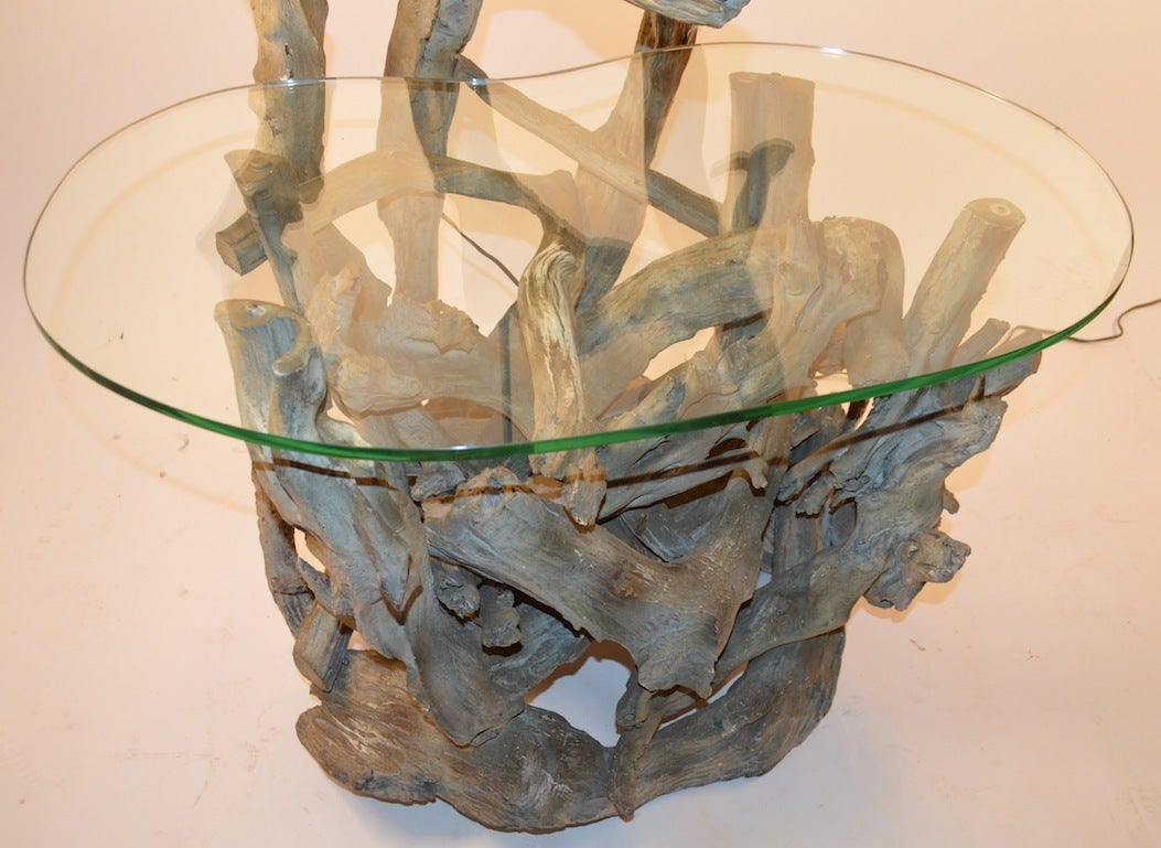 Mid-Century Modern Large Driftwood Lamp Table or Floor Lamp For Sale