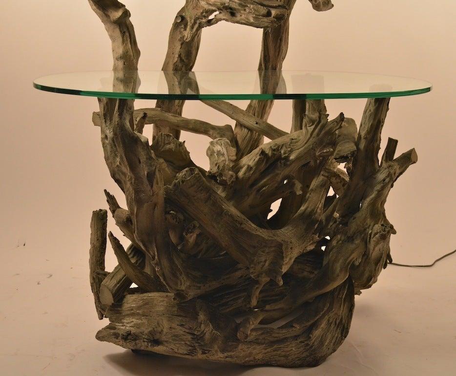 large driftwood lamp table or floor lamp for sale at 1stdibs. Black Bedroom Furniture Sets. Home Design Ideas