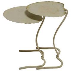 Two Salterini Lily Pad Leaf Tables