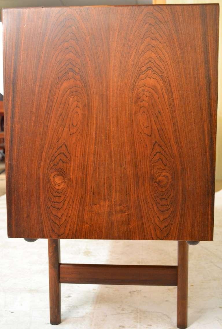 Elegant Large Rosewood Danish Modern Credenza Server 3