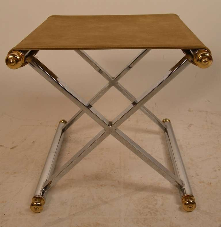 Pr Neo Classic Chrome Quot X Quot Base Stools At 1stdibs