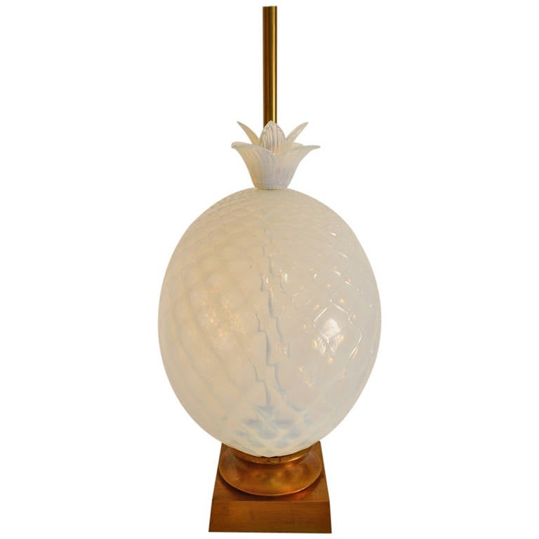 large murano pineapple lamp marked marbro attributed to seguso 1 - Pineapple Lamp