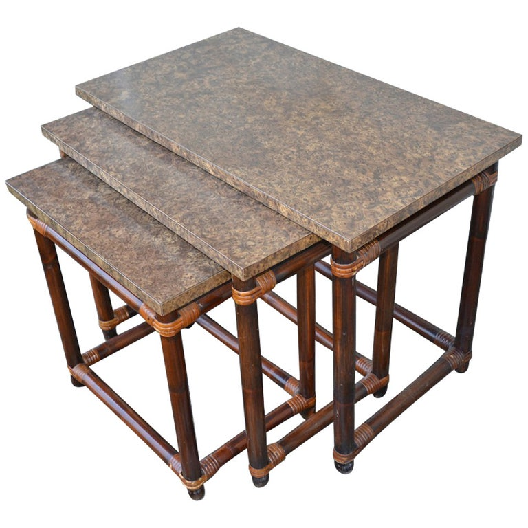 Ficks Reed Nesting Tables For Sale