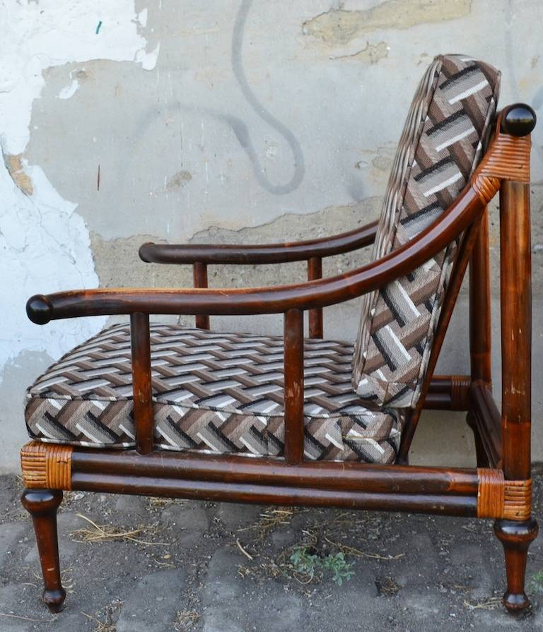 Pair of Ficks Reed Lounge Chairs at 1stdibs