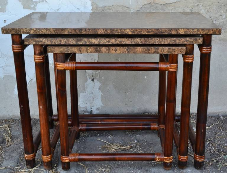 American Ficks Reed Nesting Tables For Sale