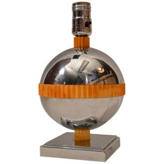 Rare Planet Lamp Designed by Nessen for Chase