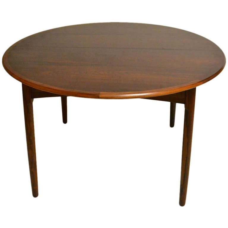 round danish modern rosewood dining table with two leaves at 1stdibs