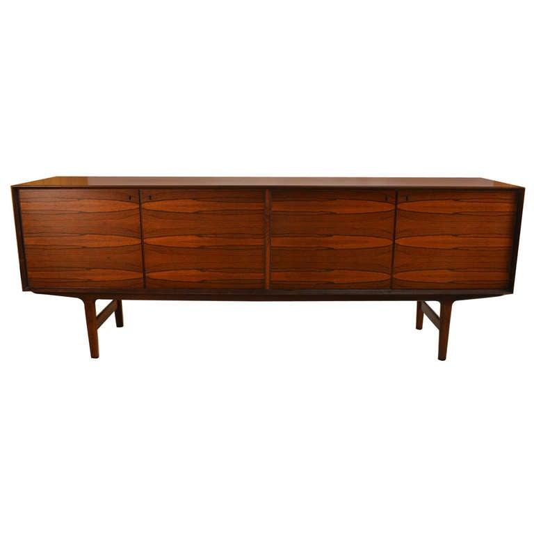 Elegant Large Rosewood Danish Modern Credenza Server