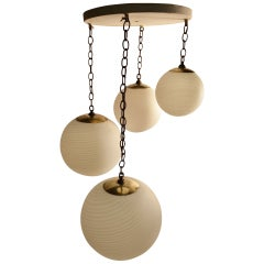 Four-Globe, Cascading Form Cahndelier