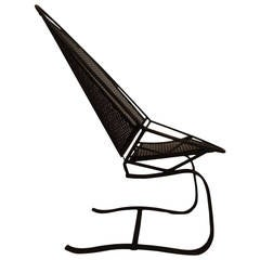 High Back Cantilevered Salterini Lounge Chair