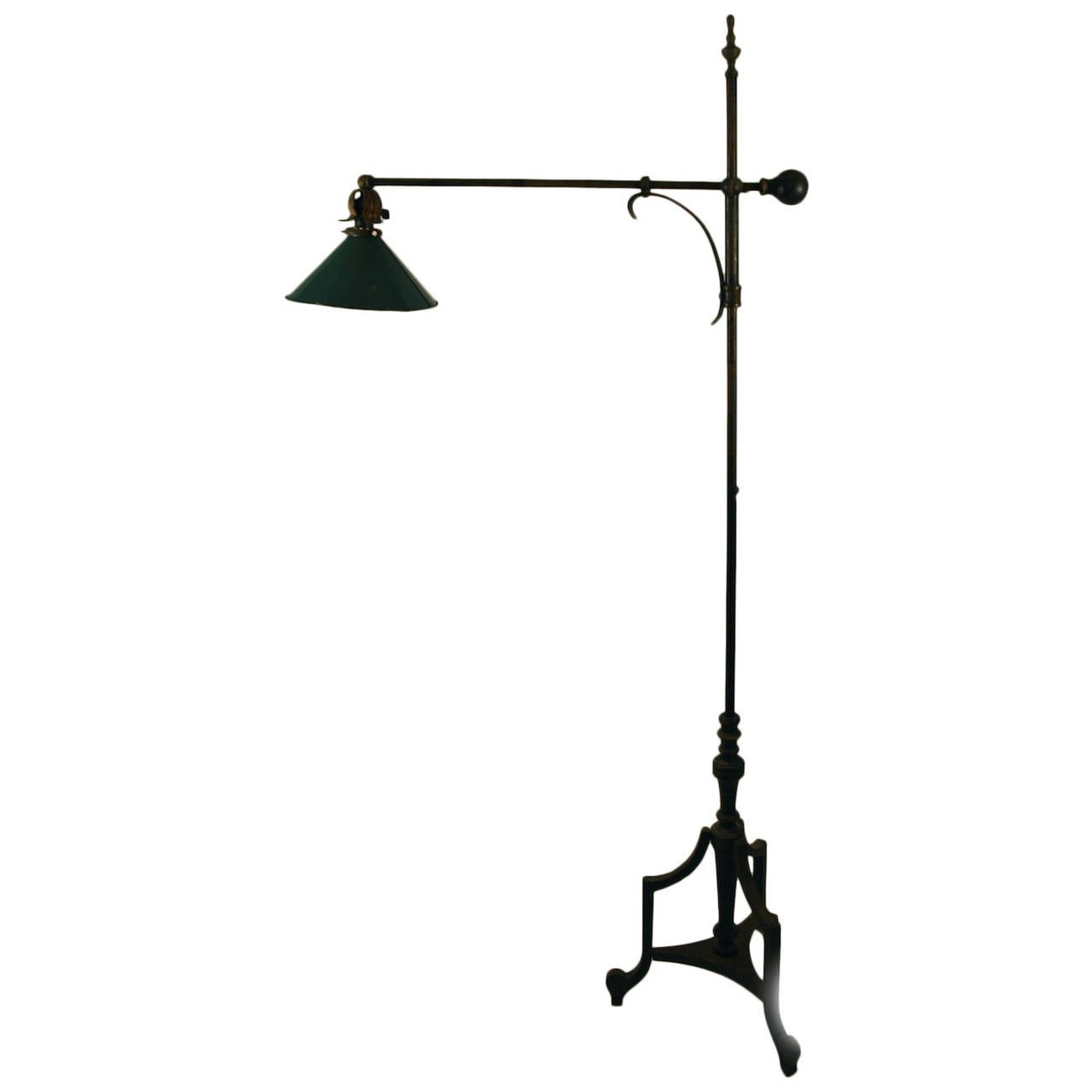 Rare Iron Counterbalance Adjustable Floor Lamp