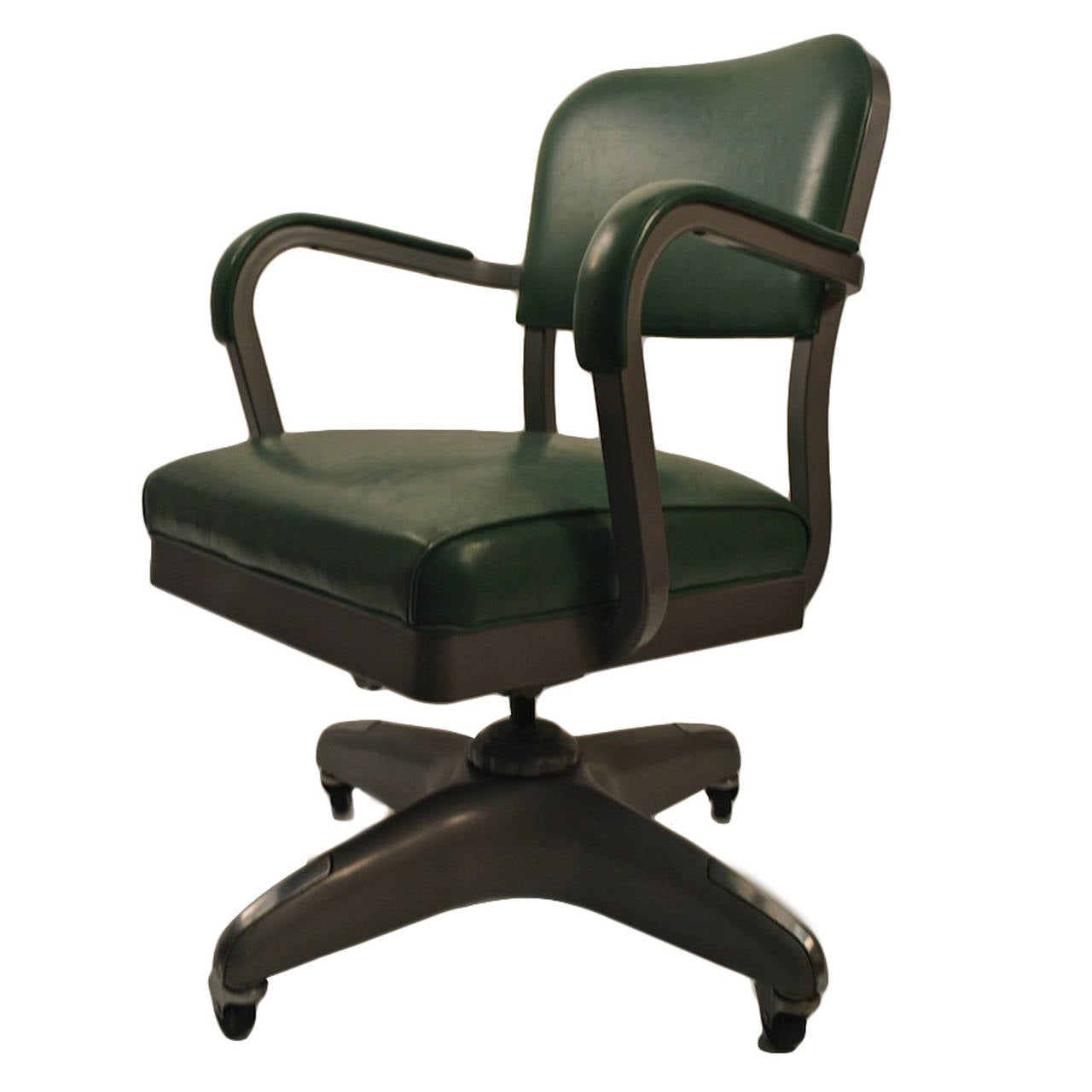 Classic swivel tilt industrial office chair at 1stdibs for Swivel chairs for office