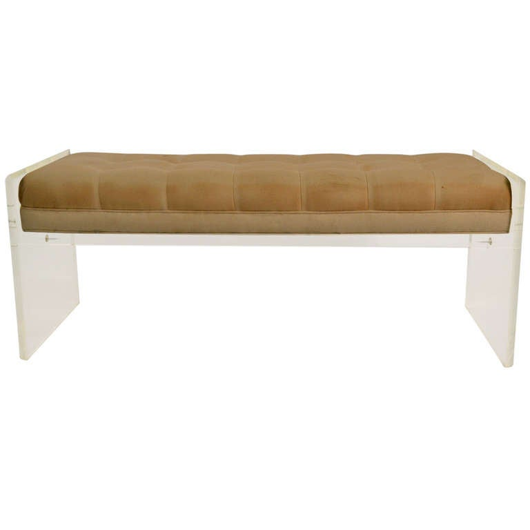 Glamorous Lucite Bench At 1stdibs