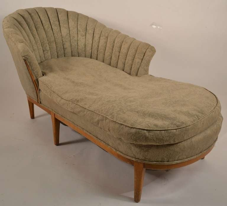 Elegant hollywood regency art deco chaise at 1stdibs for Art nouveau chaise longue