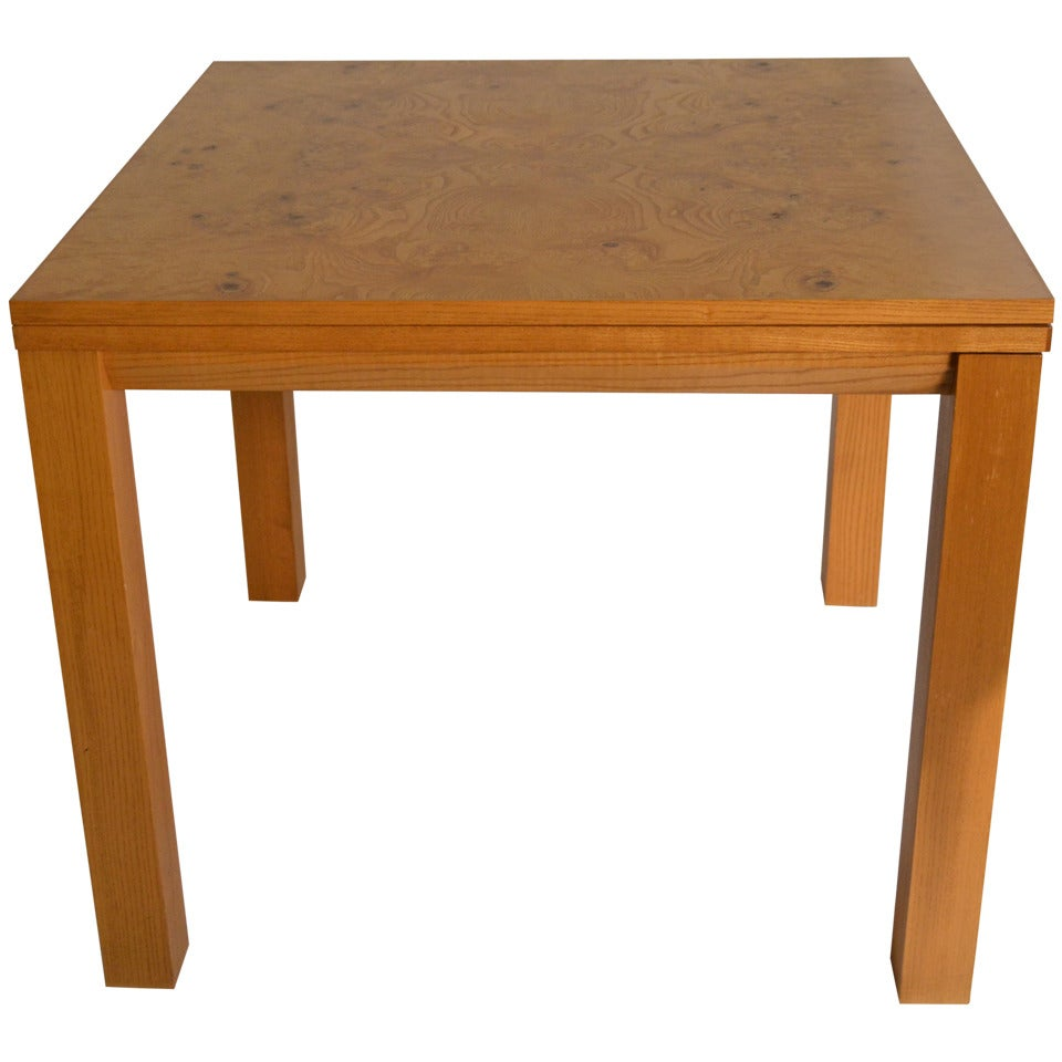 Probber Flip Top Game, Dining Table with Burl Top