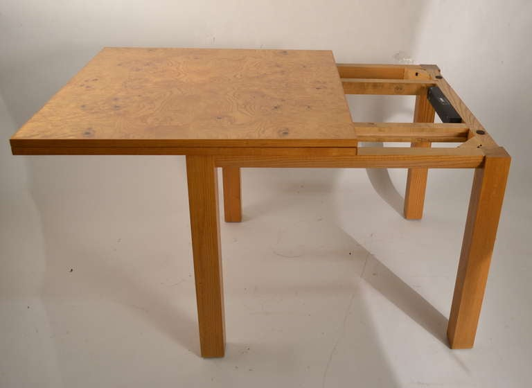 Probber Flip Top Game Dining Table With Burl Top At 1stdibs