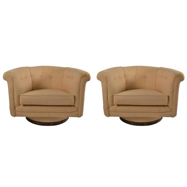 Pair of Swivel Tub Chairs