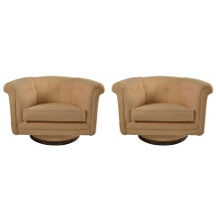 Pair of Swivel Tub Chairs