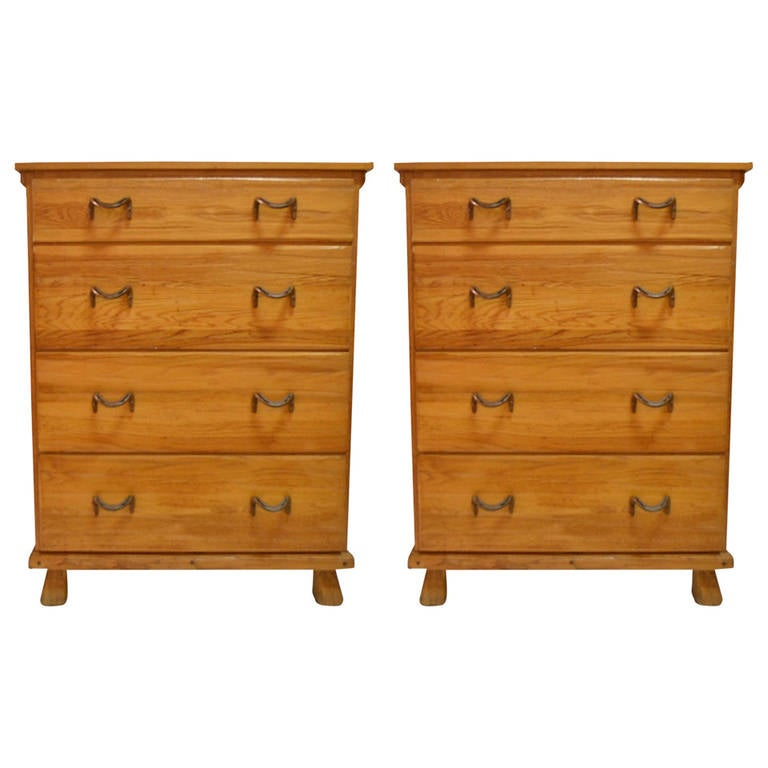 Pair of Ranch Oak Dressers