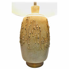 Stoneware Drip Glaze Table Lamp by David Cressey