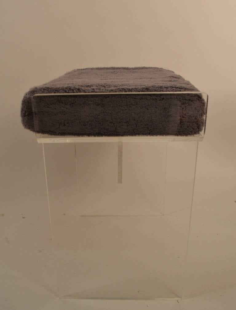 Lucite Vanity Bench At 1stdibs