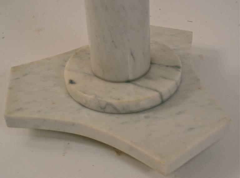 Solid Marble Pedestal Top Table In Excellent Condition For Sale In New York, NY