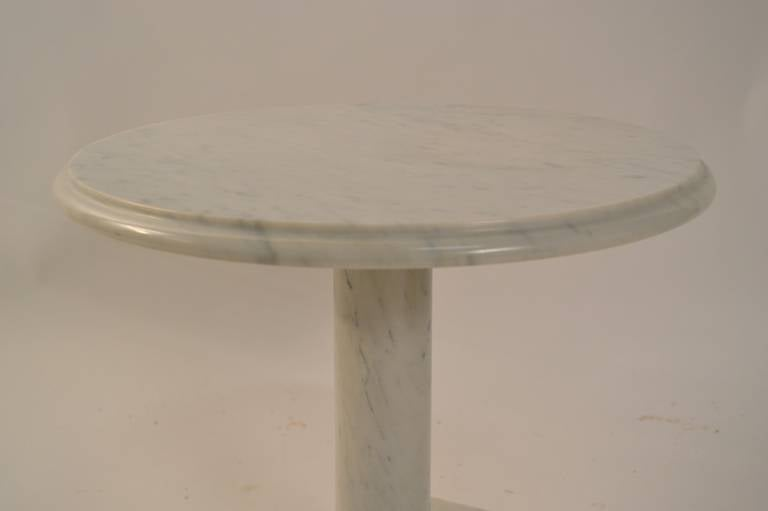 Mid-20th Century Solid Marble Pedestal Top Table For Sale