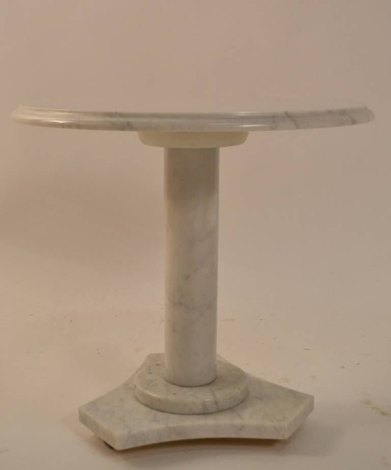 Solid Marble Pedestal Tbale At 1stdibs