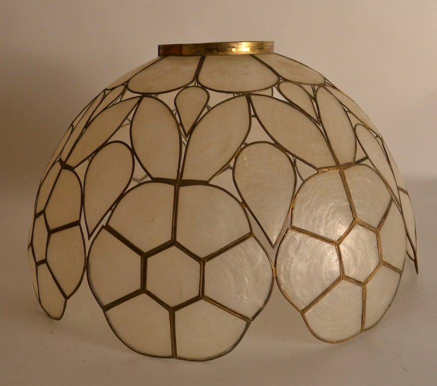 Pair capiz shell lamp shades for sale at 1stdibs pair capiz shell lamp shades 3 mozeypictures Gallery