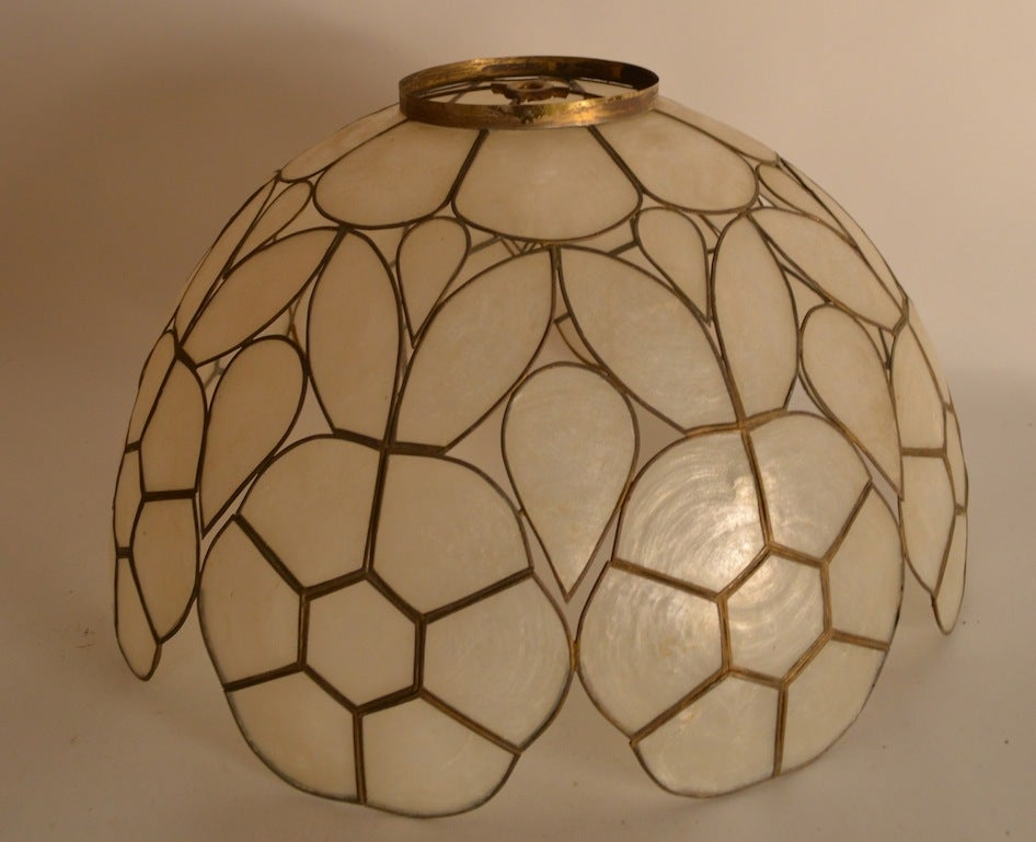Pair Capiz Shell Lamp Shades For Sale At 1stdibs