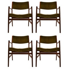 Set of Four Rosewood Armchairs