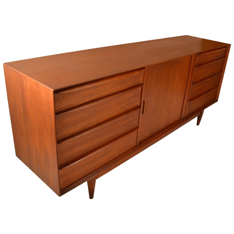 Danish modern dresser credenza by falster at stdibs