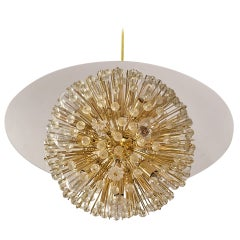 Half Ball Starburst Chandelier by Emil Stejnar