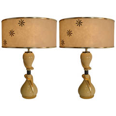 Pair Ceramic Lamps attributed to Hansen