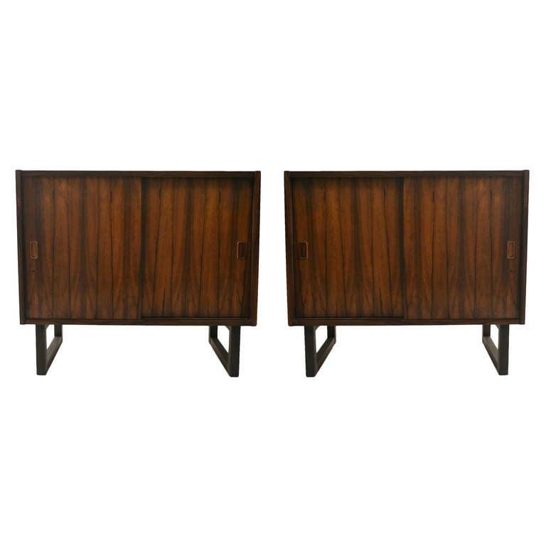 2 Danish Modern Rosewood Cabinets At 1stdibs